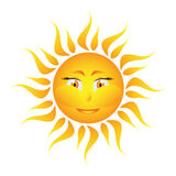 Icon of the sun on a white background. Sun fire icon of the sun on white background vector illustration Royalty Free Stock Photography