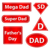 Icon super dad. Flat design,  illustration Royalty Free Stock Images
