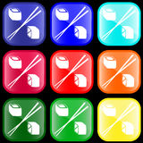 Icon of sushi rolls. On shiny buttons vector illustration