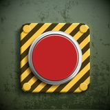 Icon switch button. Switch button. Turn on the alarm and fire siren. Stock  realistic illustration Royalty Free Stock Photography