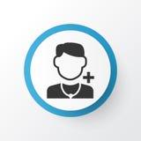 Icon Symbol医生 优质质量在时髦样式的被隔绝的医师元素 库存图片