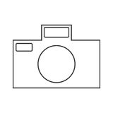 Icon symbol of the flat design of the camera for the photograph. E on a white background Royalty Free Stock Photography