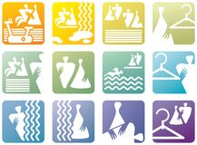 Icon symbols for fitness club Stock Images