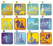 Icon symbols for fitness club Royalty Free Stock Photos