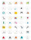 Icon T-shirts. Forty icons with different motives shirts Royalty Free Stock Photo