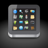 Icon for tablet computer Stock Images
