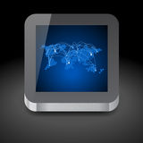Icon for tablet computer Royalty Free Stock Images