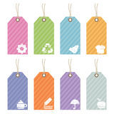 Icon tags Stock Photography