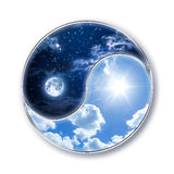 Icon tao - moon and sun Stock Image