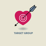 Icon target audience Royalty Free Stock Photography