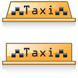 Icon taxi Stock Image