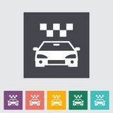 Icon taxi Stock Photography