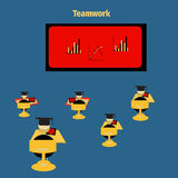 Icon teamwork concept for conference. Icon education for teamwork concept Royalty Free Stock Photography