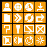Icon technology orange Royalty Free Stock Photos