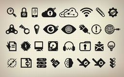 Icon. Technology icon set, vector icon, abstract digital icon Royalty Free Stock Images