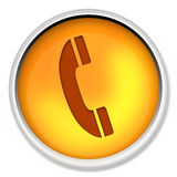 Icon, telephone, phone, cable, electronic, equipment, office, button, telecommunication Stock Image