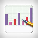 Icon template for financial applications Royalty Free Stock Photos