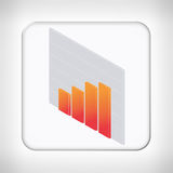 Icon template for financial applications Royalty Free Stock Image