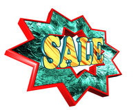 Icon with the text on a white background sale. Closeup Stock Image