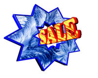 Icon with the text on a white background sale. Closeup Stock Photo