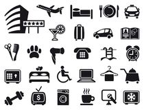 Icons on a hotel theme Royalty Free Stock Photos