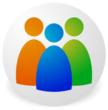 Icon with three figures - Businessmen, characters, employment, H Stock Photos