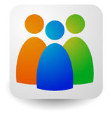 Icon with three figures - Businessmen, characters, employment, H Royalty Free Stock Photos