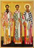 Icon of the Three Hierarchs Stock Images