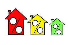 Icon three similar houses Royalty Free Stock Photo