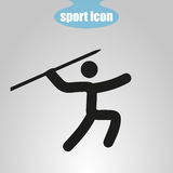 Icon of throwing spears on a gray background. Vector illustration Royalty Free Stock Images