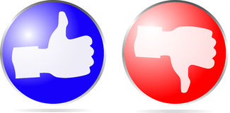 Icon thumb up and thumb down Stock Image