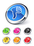 Icon thumbs down Royalty Free Stock Photos