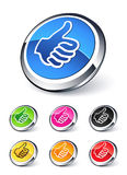 Icon thumbs up. Clipart illustration vector illustration