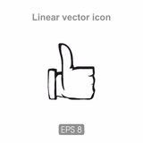 Icon thumbs up Royalty Free Stock Images