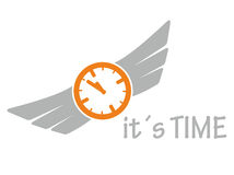 Icon it is time Stock Image