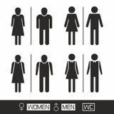 Icon toilet man and woman Royalty Free Stock Photos
