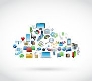 Icon tools technology cloud. cloud computing Royalty Free Stock Image