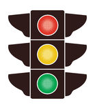 icon of traffic light, vector  Stock Image