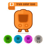 Icon Train color on white background. Icon set Train color on white background Royalty Free Stock Photography