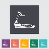 Icon trainer treadmill. Vector illustration Royalty Free Stock Photography