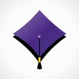 Icon - Training and education. Icon in the form of mortar board Stock Photos
