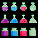 Icon of transparent flasks Stock Images