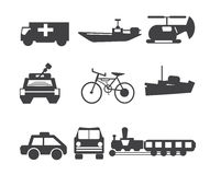 Icon transportation Royalty Free Stock Photo