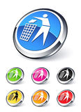 Icon trashcan / recycling Royalty Free Stock Images