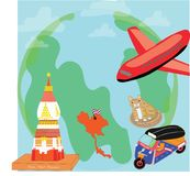 Icon for traveling illustration idea Stock Photos