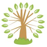 Icon with tree Royalty Free Stock Photos