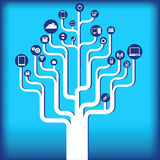 Icon tree_112613.jpg Royalty Free Stock Photo