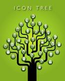 Icon tree of symbols Royalty Free Stock Photography
