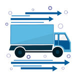 Icon the truck is going. Sign of delivery and courier service. Stock Photos