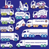 Icon trucks in various forms Royalty Free Stock Photo